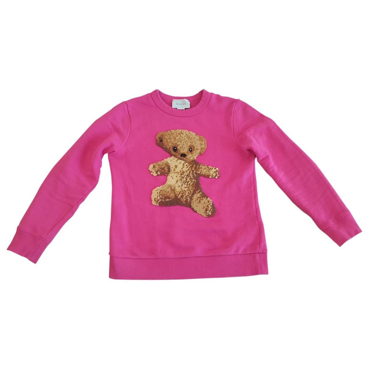 Gucci - Pull   pour enfant en coton - rose