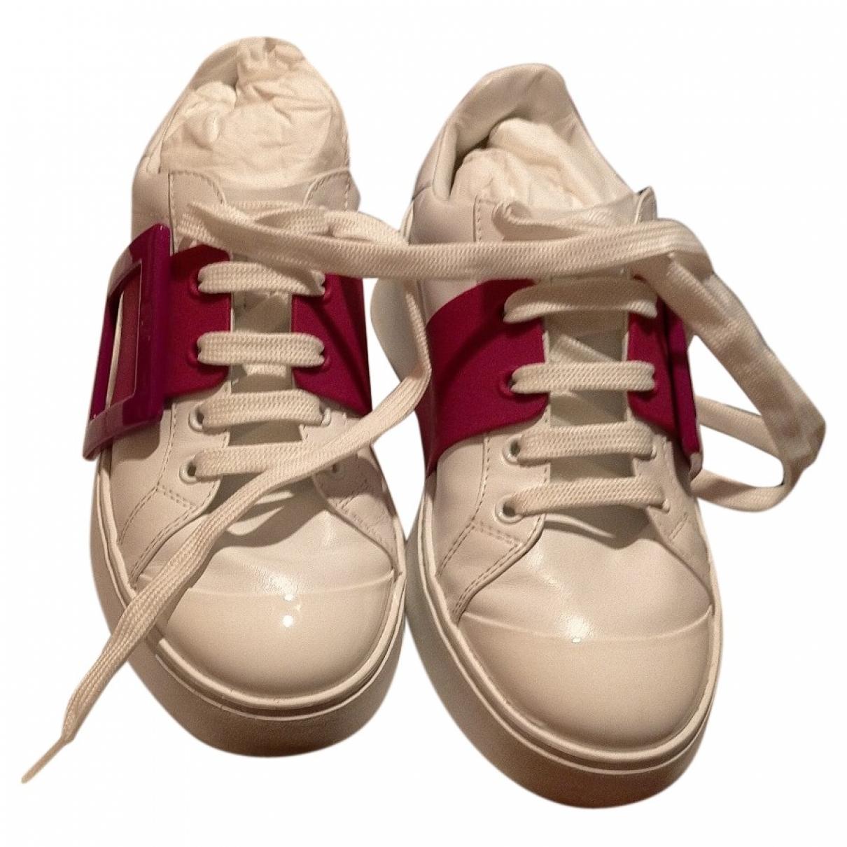 Roger Vivier - Baskets   pour femme en cuir - blanc