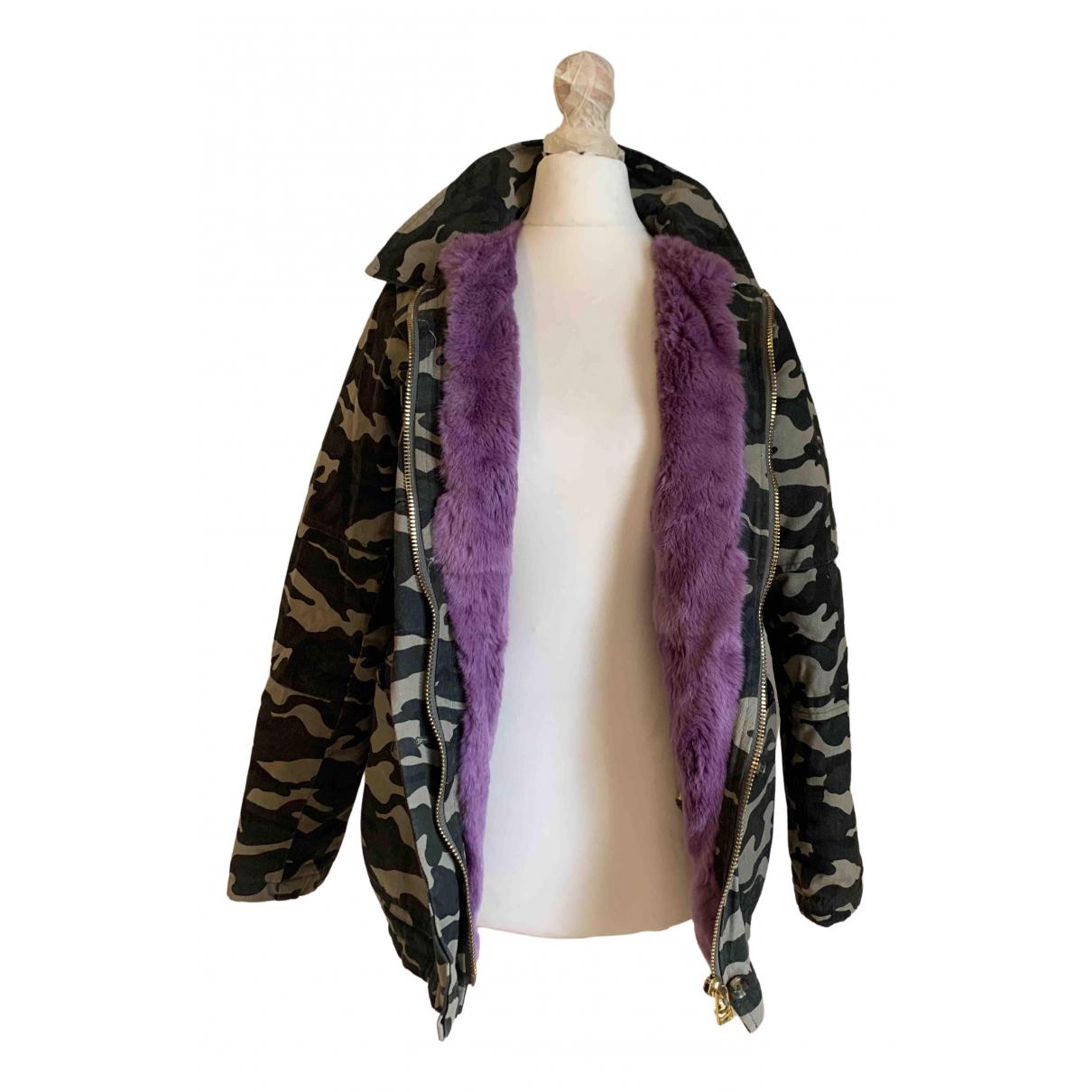 Beayukmui - Manteau   pour femme en lapin - kaki