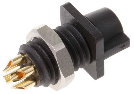 Binder Connector, 4 contacts Panel Mount Subminiature Socket, Solder IP40