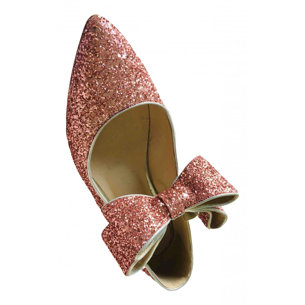 Polly Plume \N Ballerinas in  Rosa Mit Pailletten