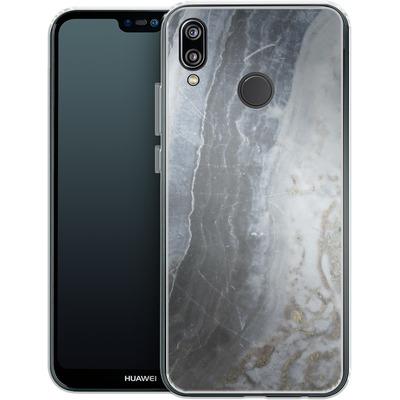 Huawei P20 Lite Silikon Handyhuelle - Desaturated Marble von Emanuela Carratoni