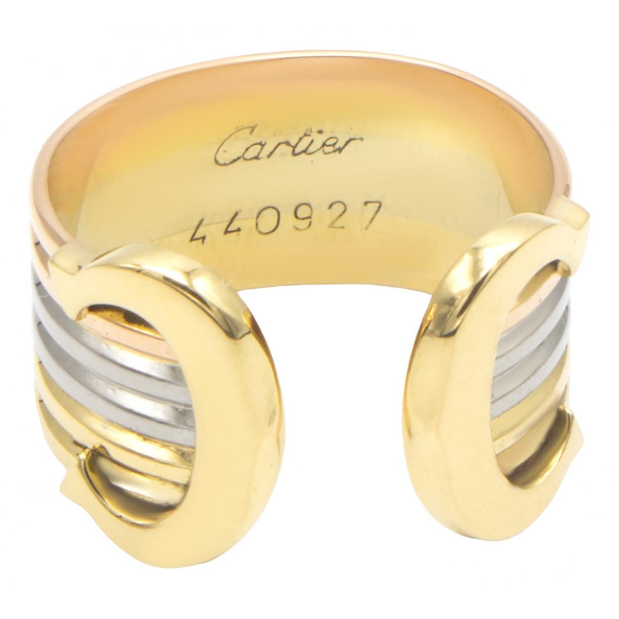 Cartier - Bague C pour femme en or jaune - dore