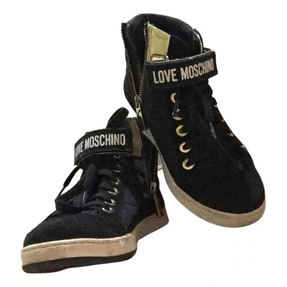 Moschino Love - Baskets   pour femme - noir