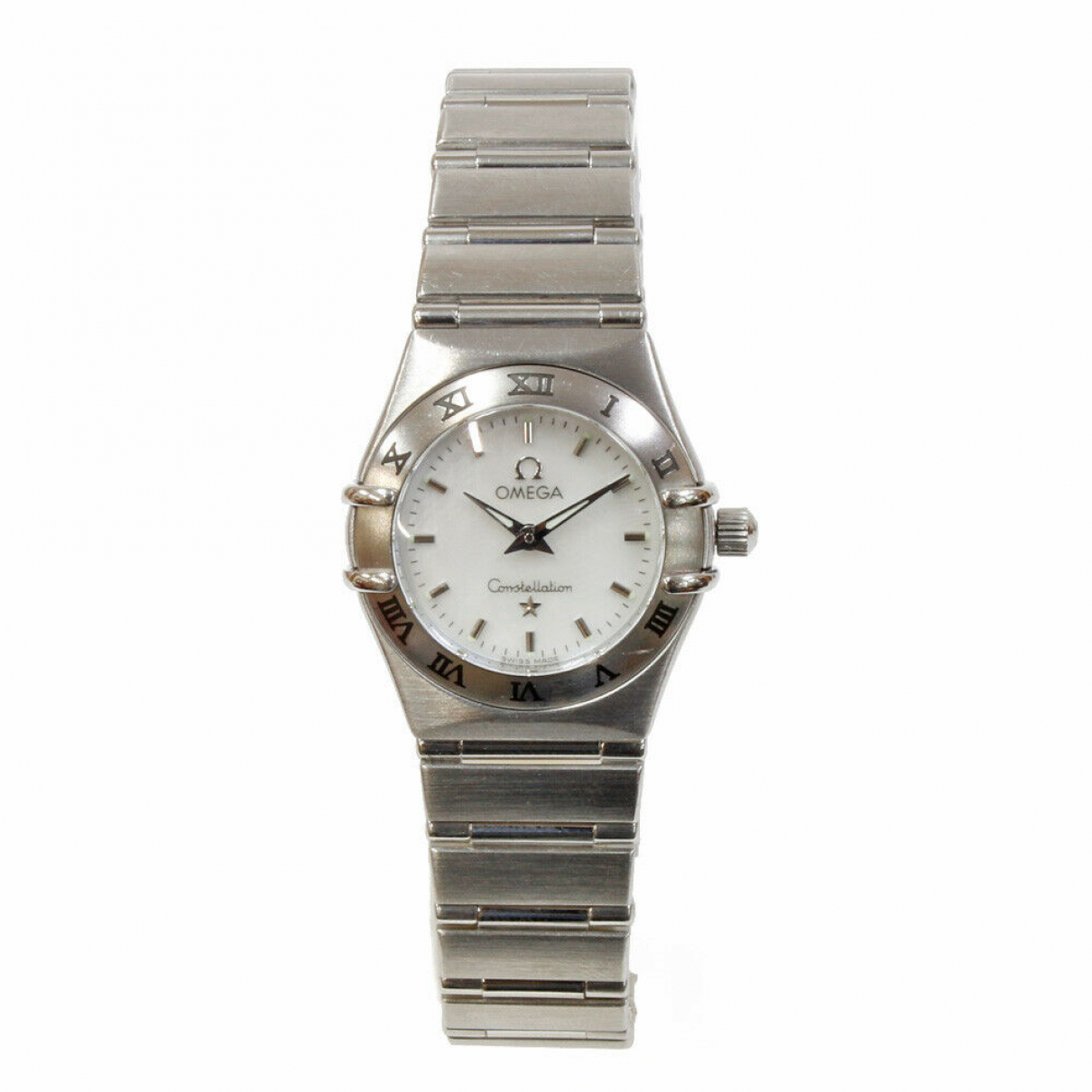 Omega N White Steel watch for Women N