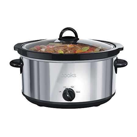 Cooks 6-Qt. Stainless Steel Slow Cooker, One Size , Gray