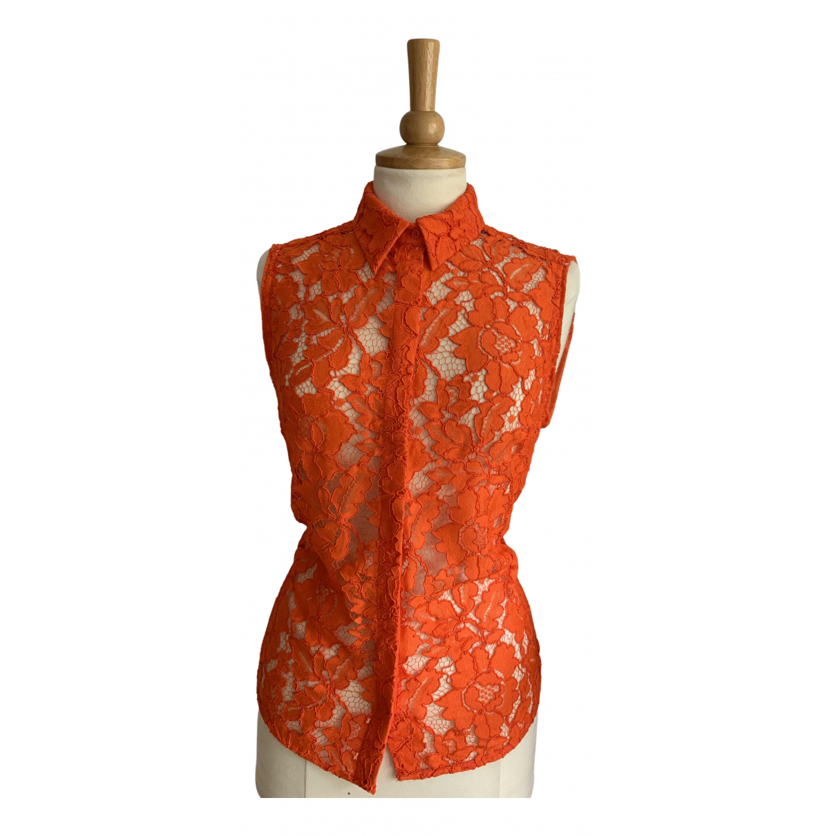 Sandro N Orange Lace  top for Women 2 0-5
