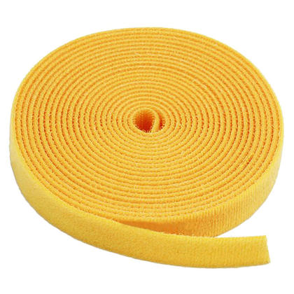 Monoprice® Hook and Loop Fastening Tape, 5 yards/roll, 0.75 in - Yellow