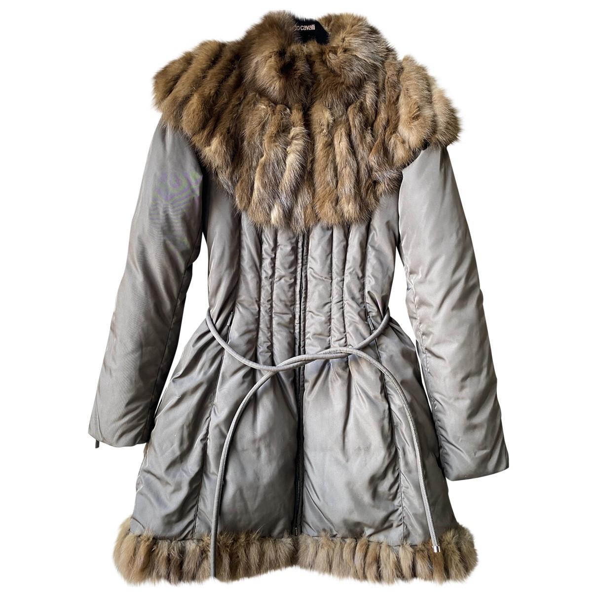 Roberto Cavalli \N Brown coat for Women 40 IT
