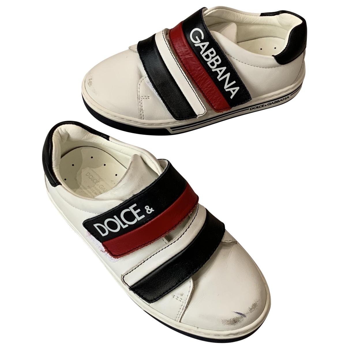 Dolce & Gabbana - Baskets   pour enfant en cuir - multicolore