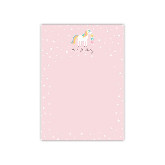 20 Pack of Gartner Studios® Personalized Unicorn Flat Kid Thank You in Pale Pink   5