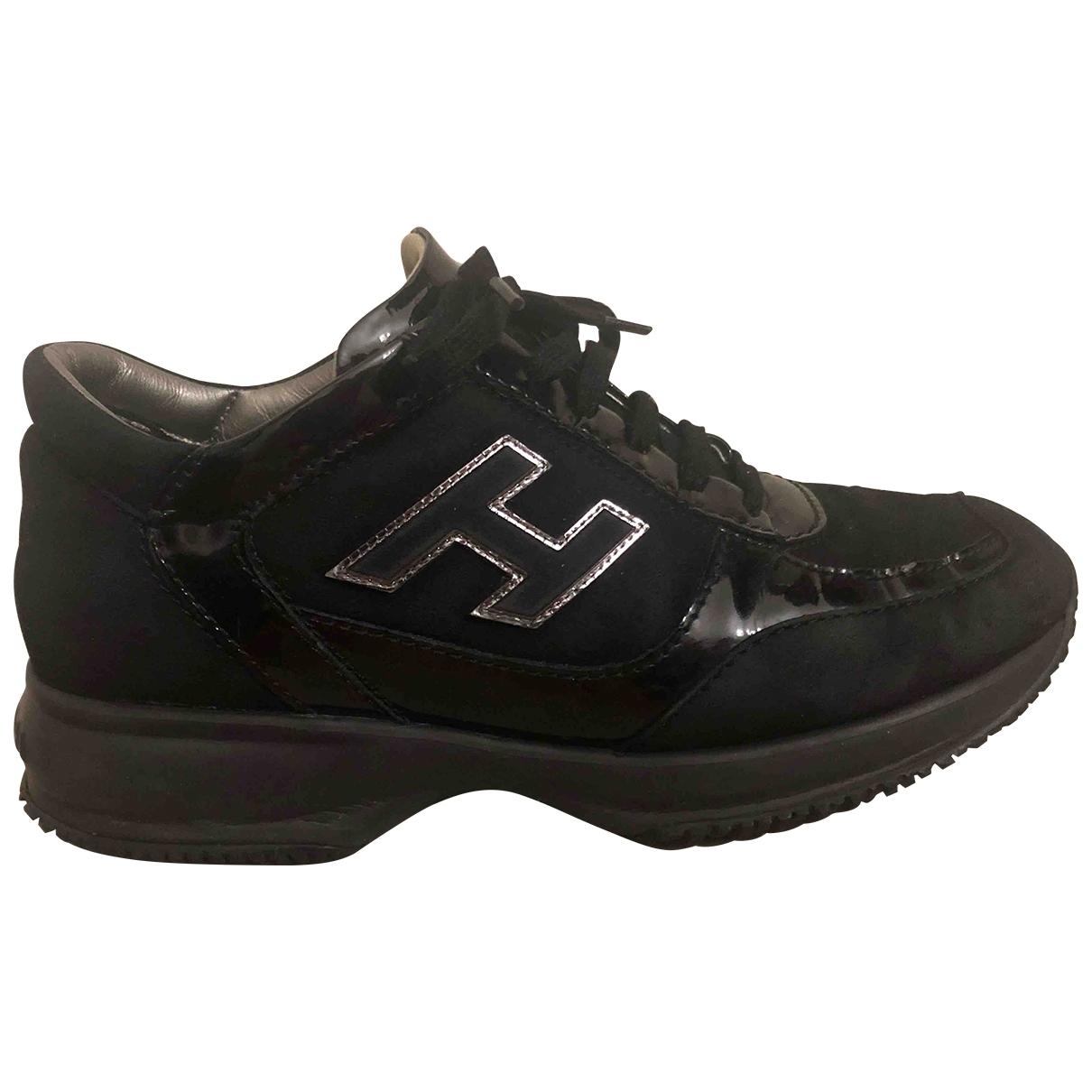 Hogan - Baskets   pour femme en suede - noir