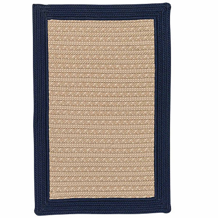 Colonial Mills Patriot Border Reversible Braided Rug, One Size , Blue