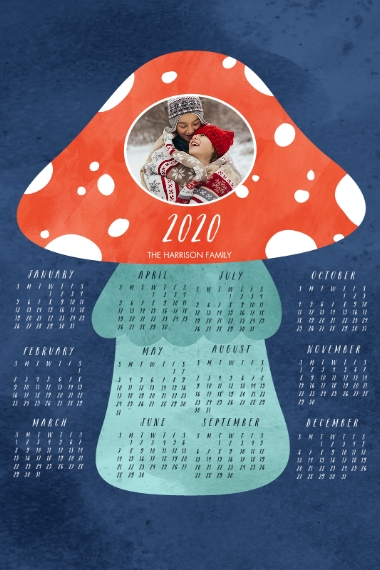Calendar 20x30 Poster(s), Board, Home Décor -Amanita Muscaria