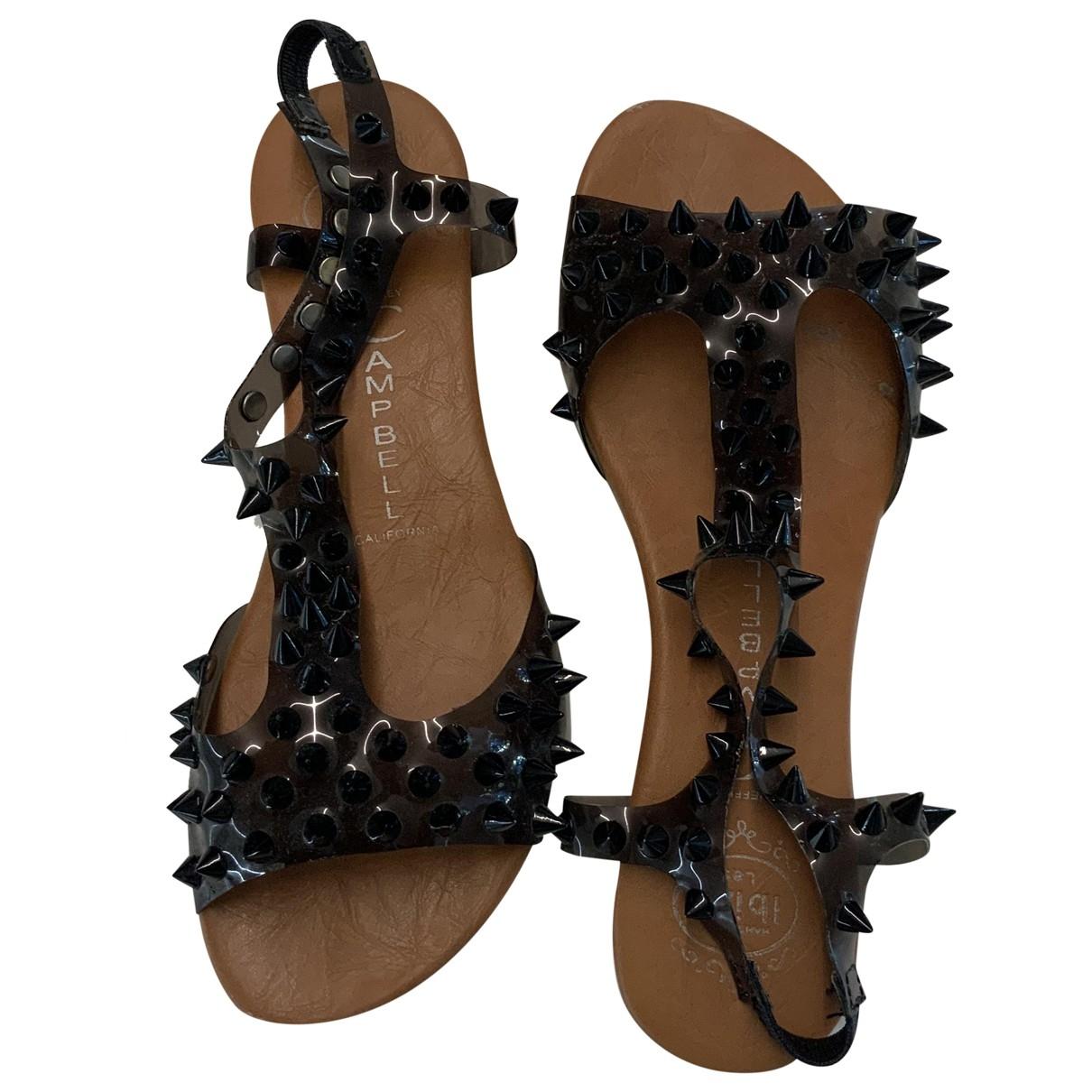 Jeffrey Campbell \N Black Rubber Sandals for Women 37 EU