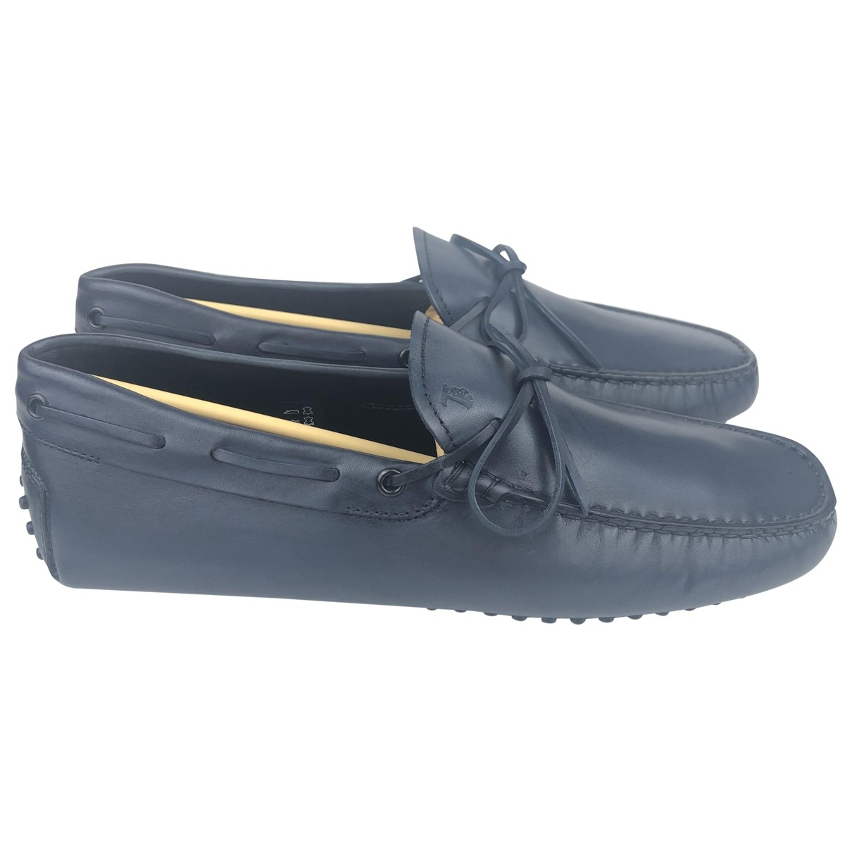 Tod's \N Navy Leather Flats for Men 8.5 UK