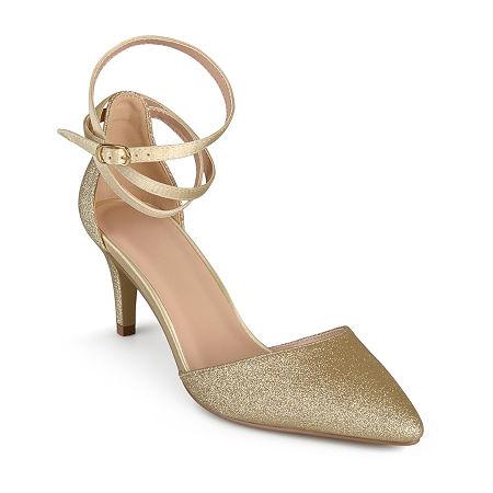 Journee Collection Womens Luela Pumps Stiletto Heel, 10 Medium, Yellow