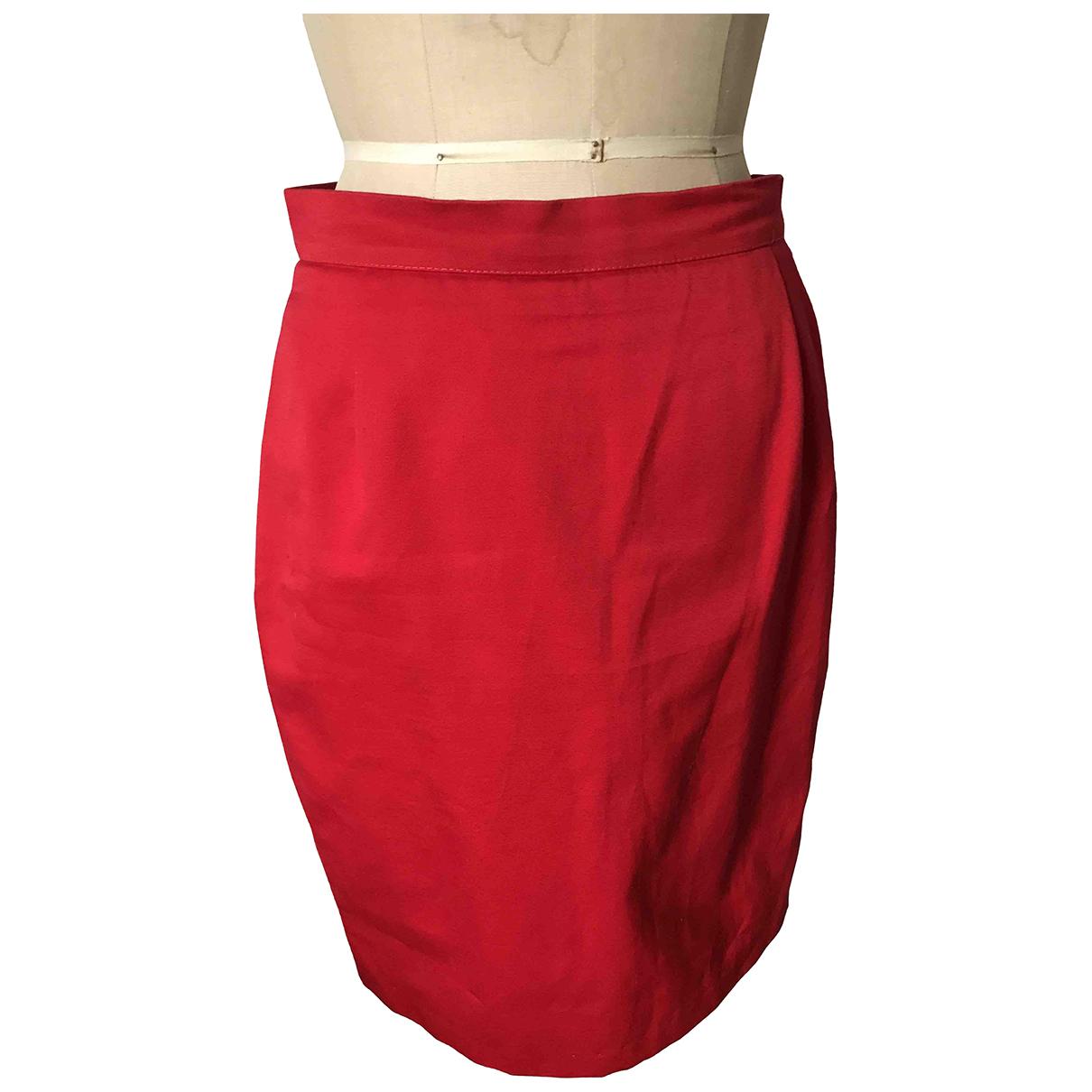 Yves Saint Laurent - Jupe   pour femme en coton - rouge