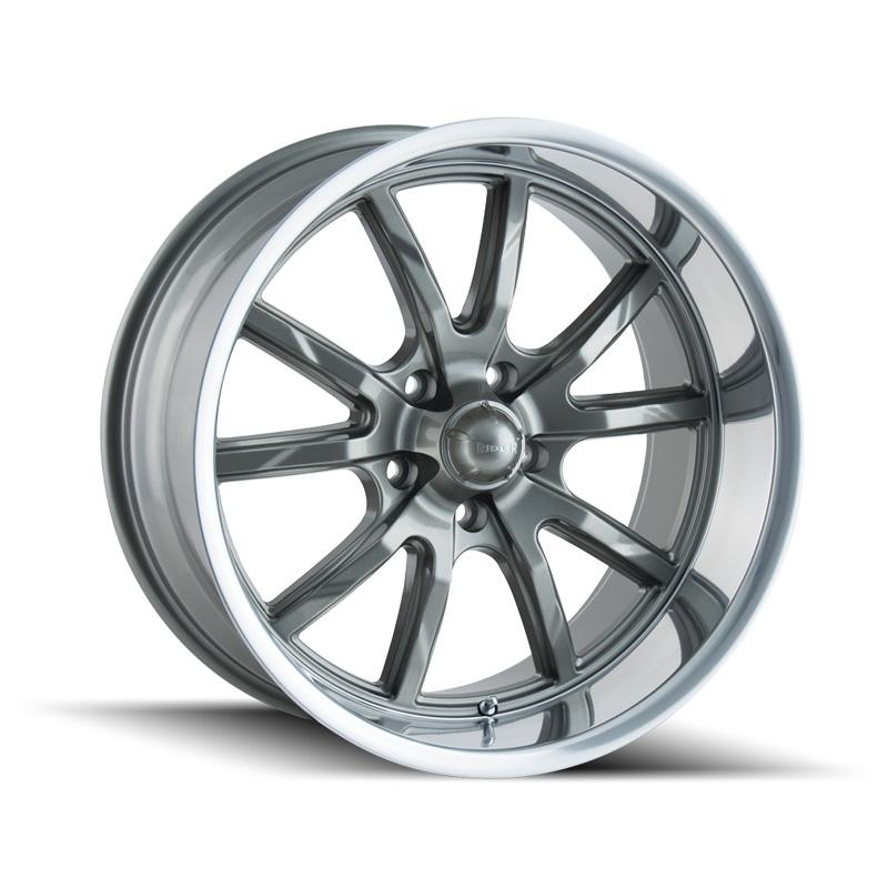 Ridler 650 Grey | Polished Lip 17x7 5x120.65 0mm 83.82mm Wheel