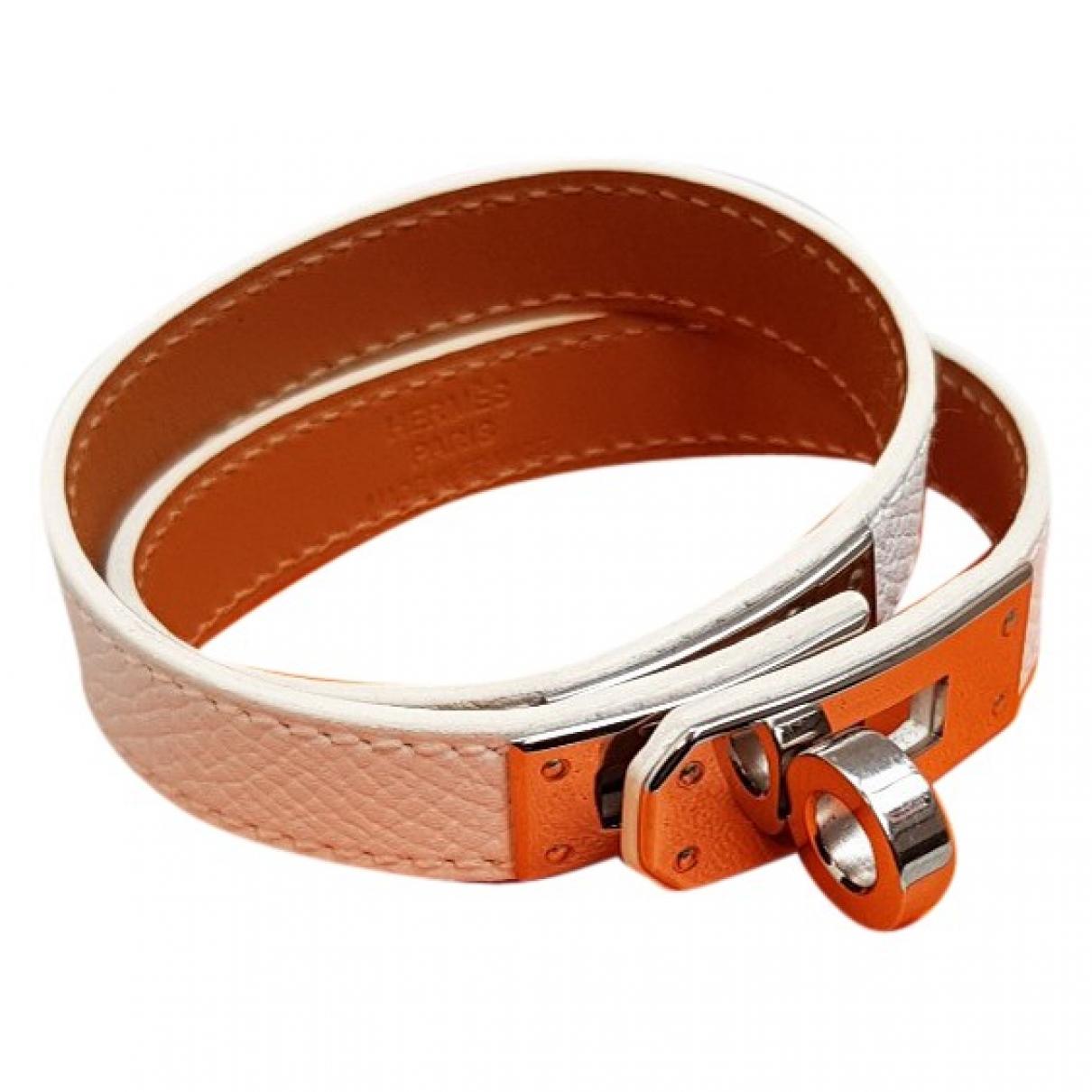 Hermes - Bracelet Kelly Double Tour pour femme en cuir - blanc