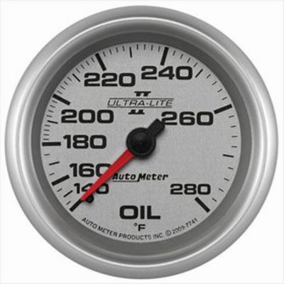 Auto Meter Ultra-Lite Mechanical Oil Temperature Gauge - 7741