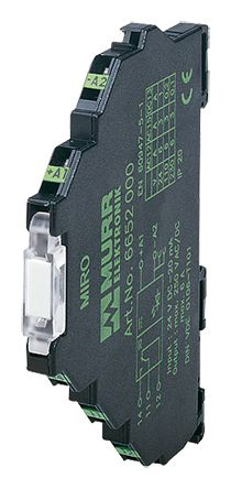 Murrelektronik Limited Optocoupler, Max. Forward 48 (On) V dc, 5 (Off) V dc, Max. Input 6 mA, 78mm Length, DIN Rail
