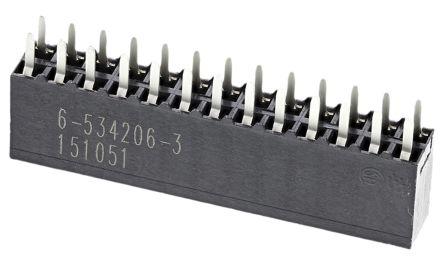 TE Connectivity , AMPMODU MOD II 2.54mm Pitch 26 Way 2 Row Straight PCB Socket, Through Hole, Solder Termination