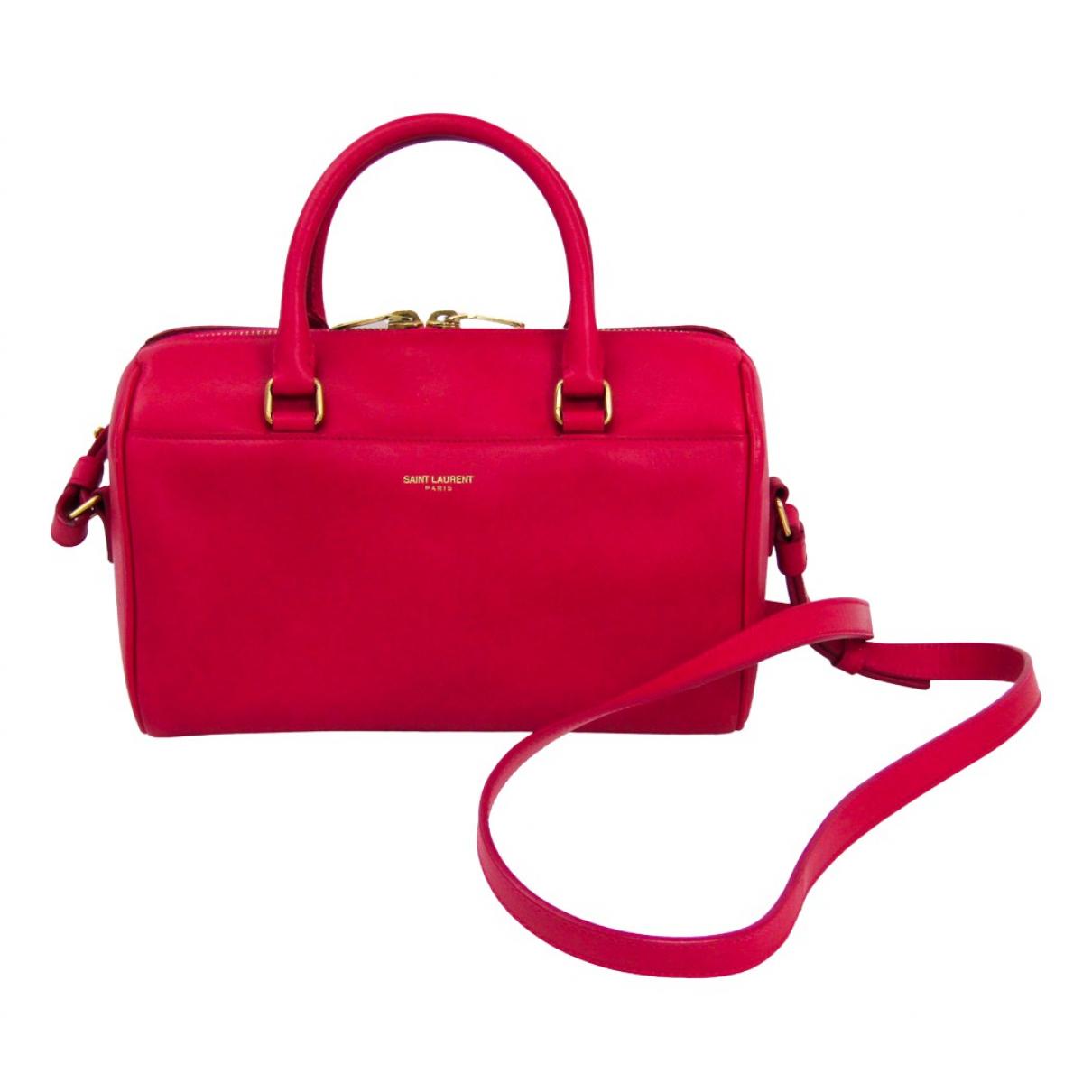 Saint Laurent Duffle Pink Leather handbag for Women \N