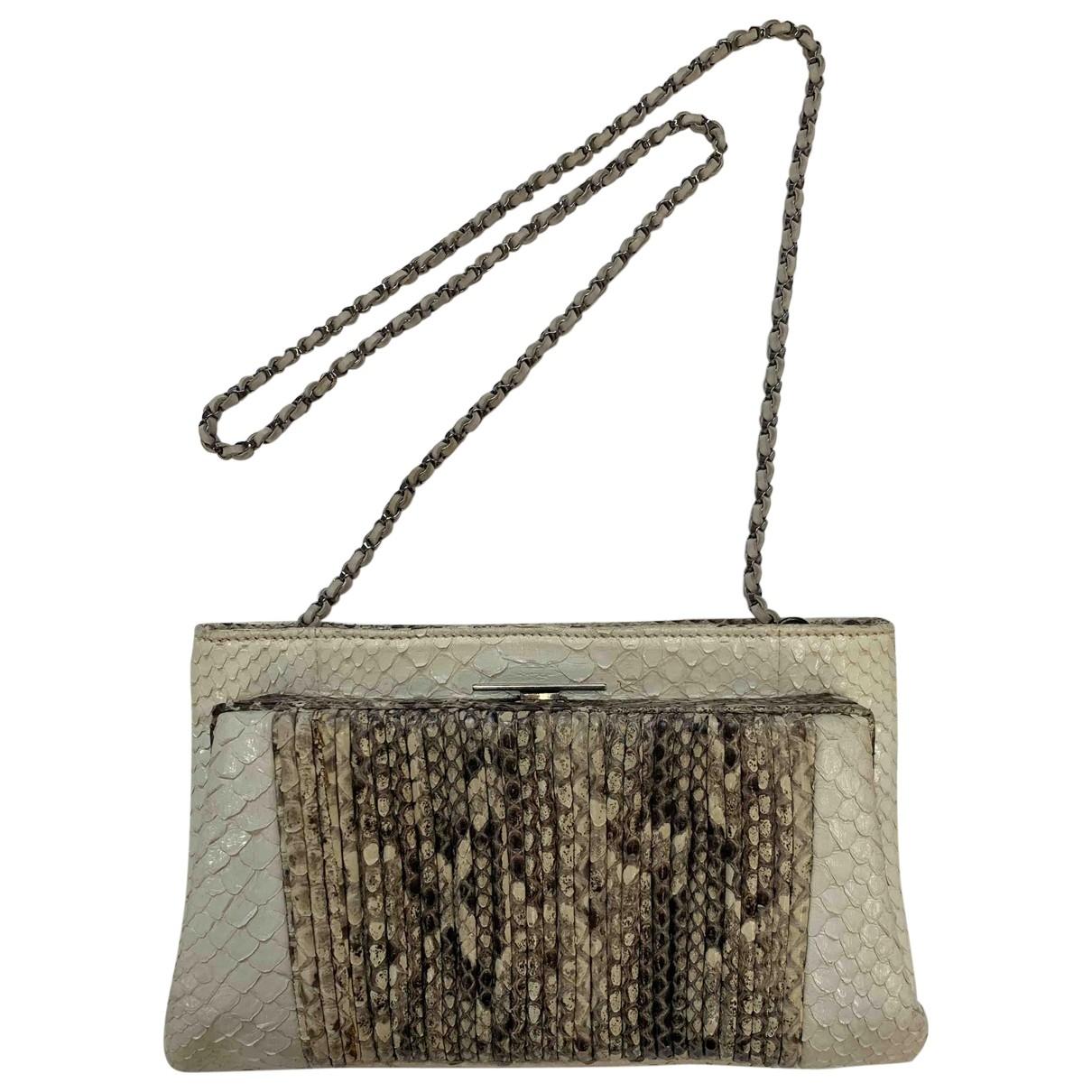 Devi Kroell \N Ecru Python handbag for Women \N