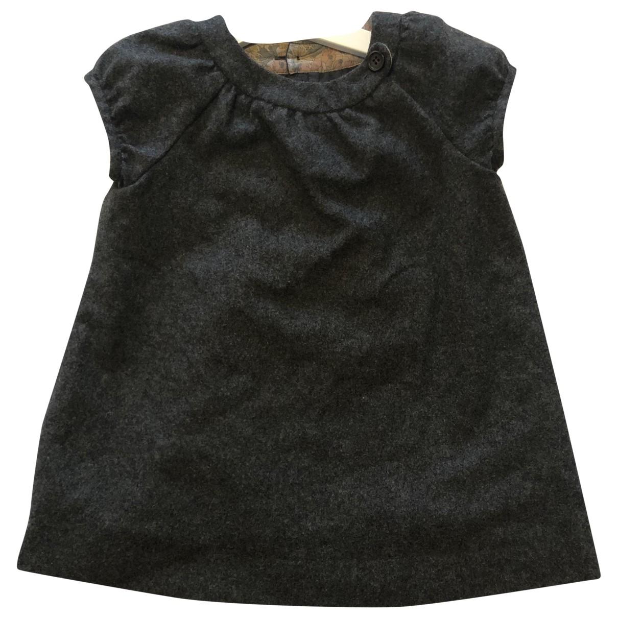 Bonpoint - Robe    pour enfant en laine - gris