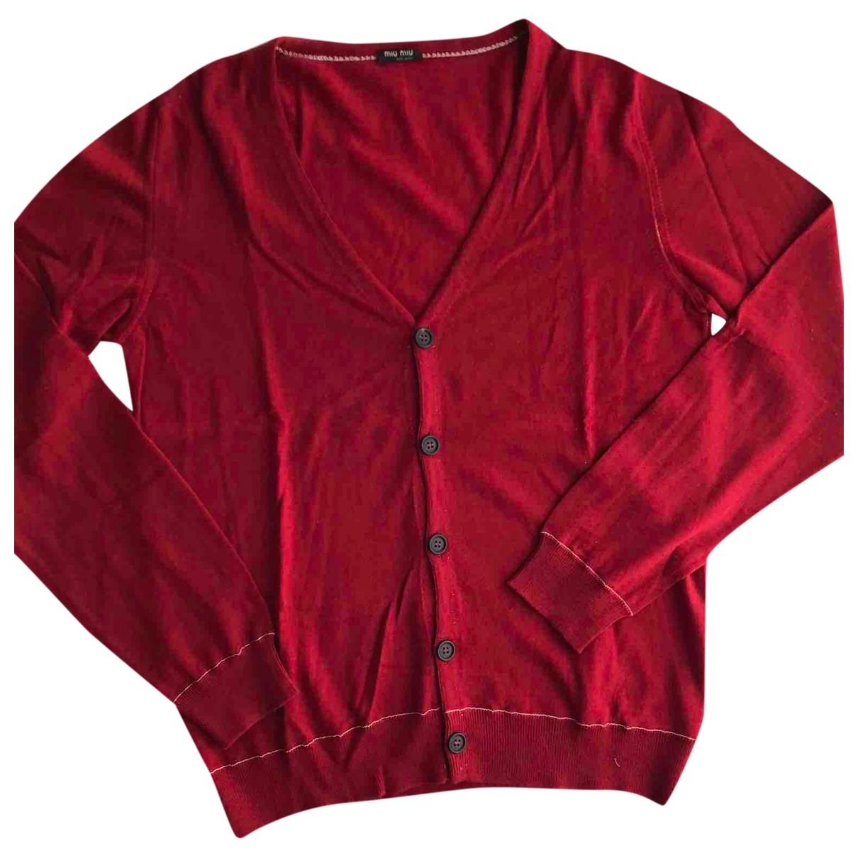 Miu Miu \N Pullover.Westen.Sweatshirts  in  Rot Wolle