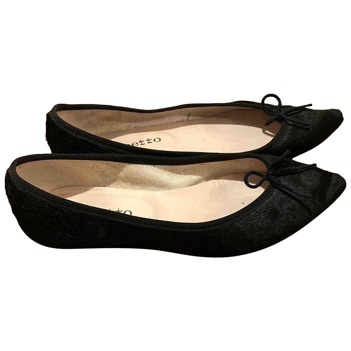 Repetto \N Black Pony-style calfskin Ballet flats for Women 39 EU