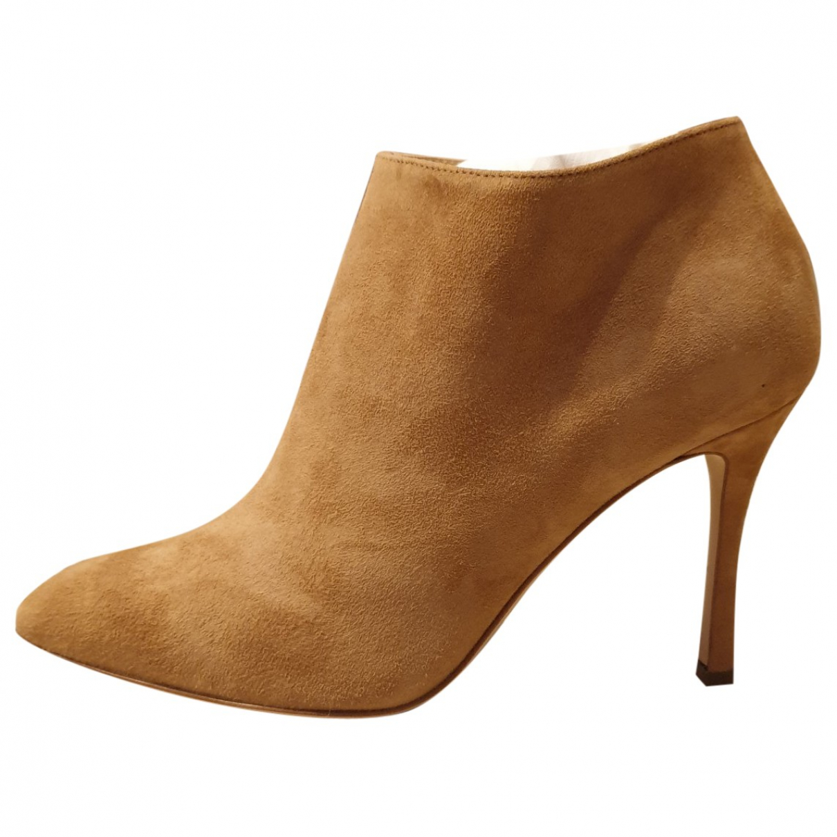 Sergio Rossi \N Beige Suede Ankle boots for Women 37 IT