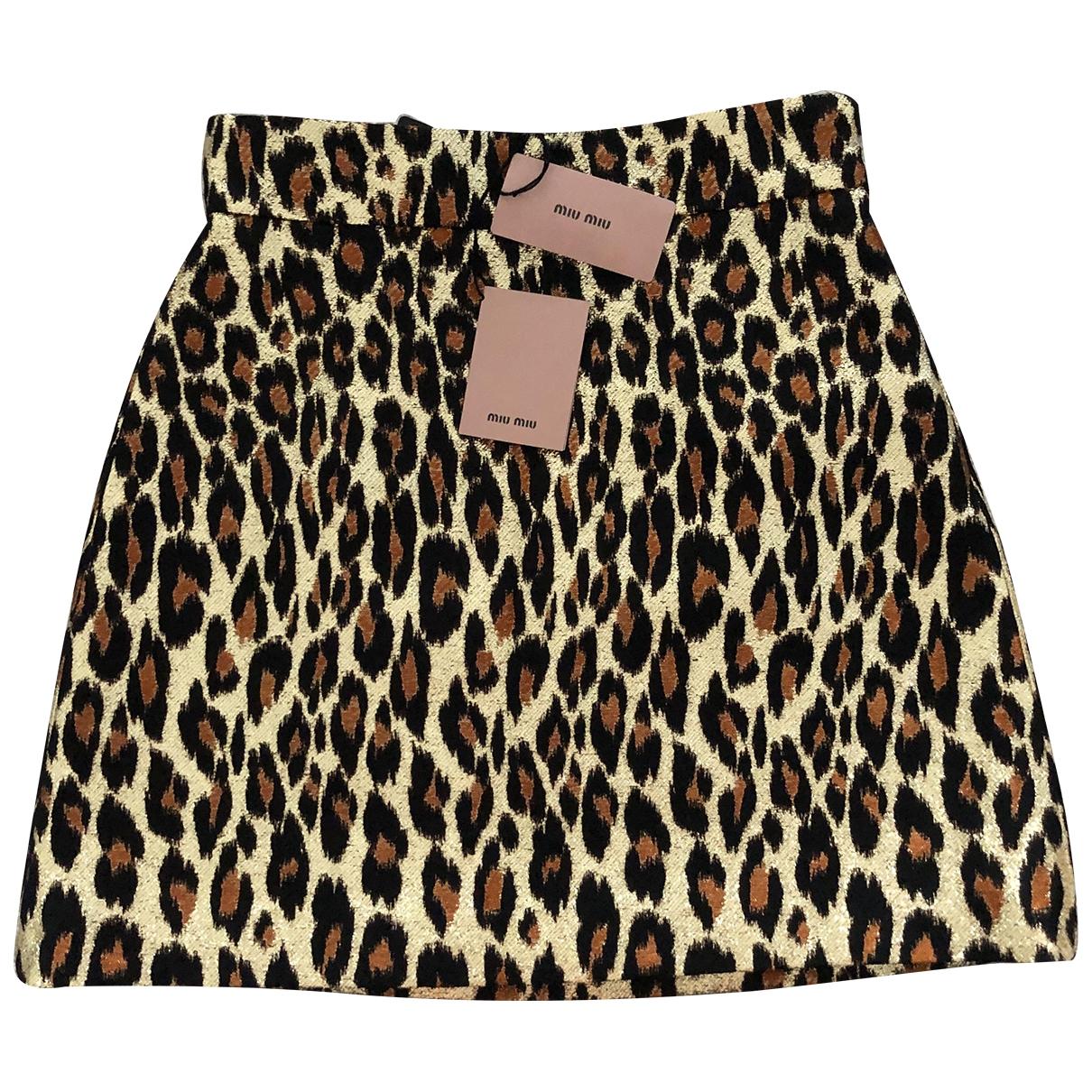 Miu Miu \N Metallic skirt for Women 40 IT
