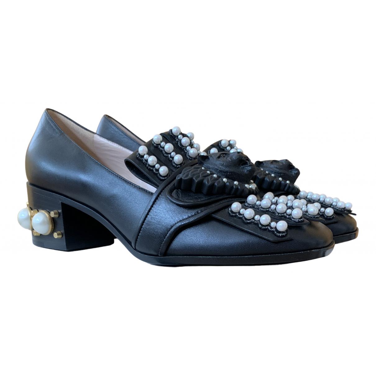 Gucci Malaga Pumps in  Schwarz Leder