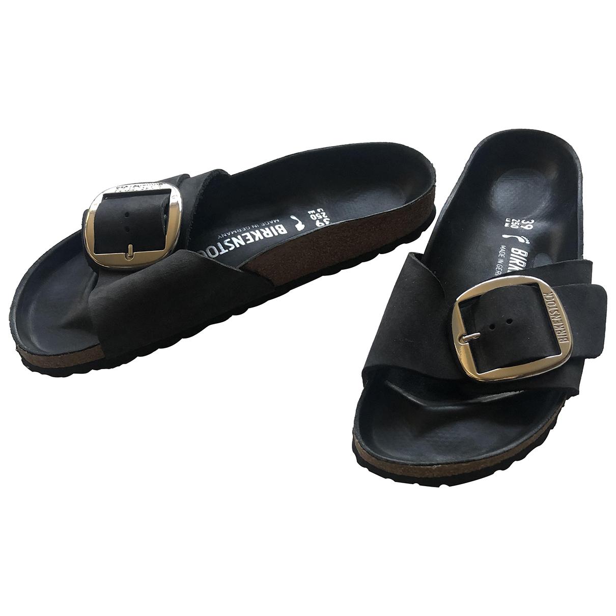 Birkenstock - Sandales   pour femme en suede - noir