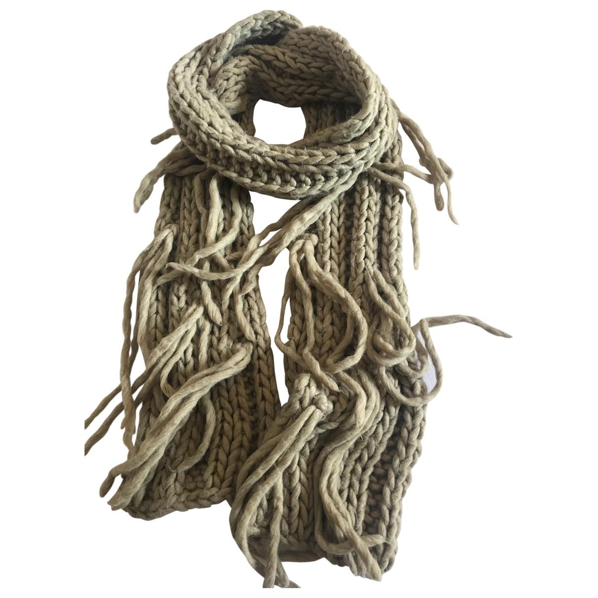 Just Cavalli \N Schal in  Beige Wolle