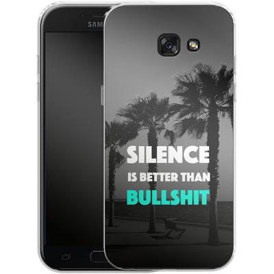 Samsung Galaxy A5 (2017) Silikon Handyhuelle - Silence Is Better von Statements