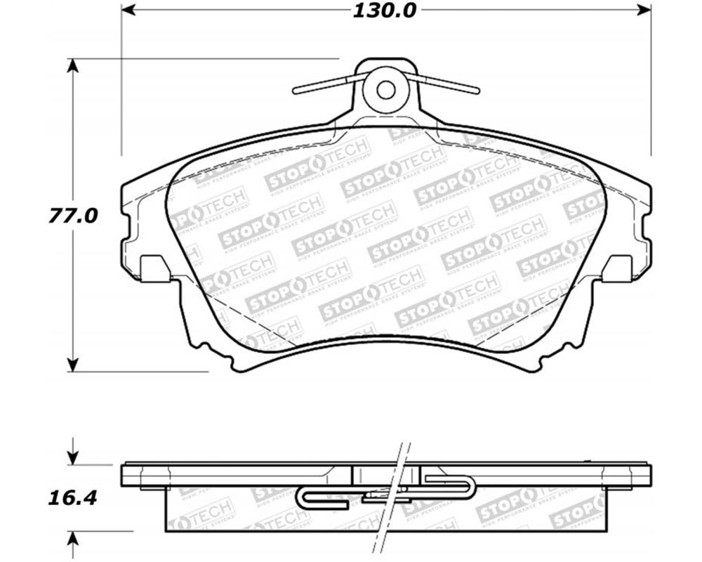 StopTech 308.0837 Street Brake Pads with Shims Volvo Front