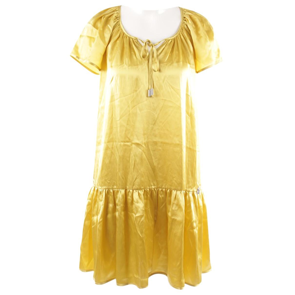 John Galliano \N Yellow Silk dress for Women 34 FR