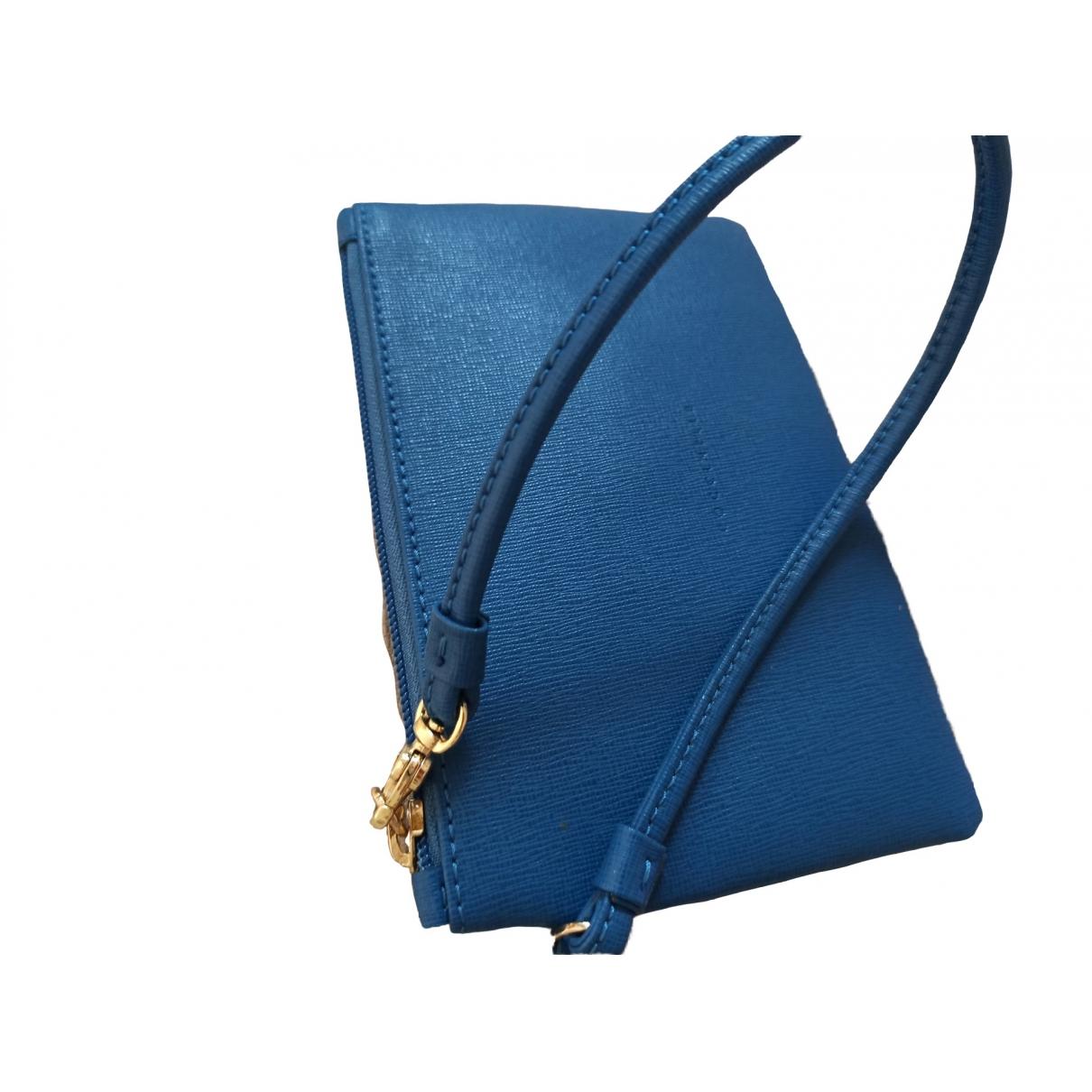 Coccinelle \N Clutch in  Blau Leder
