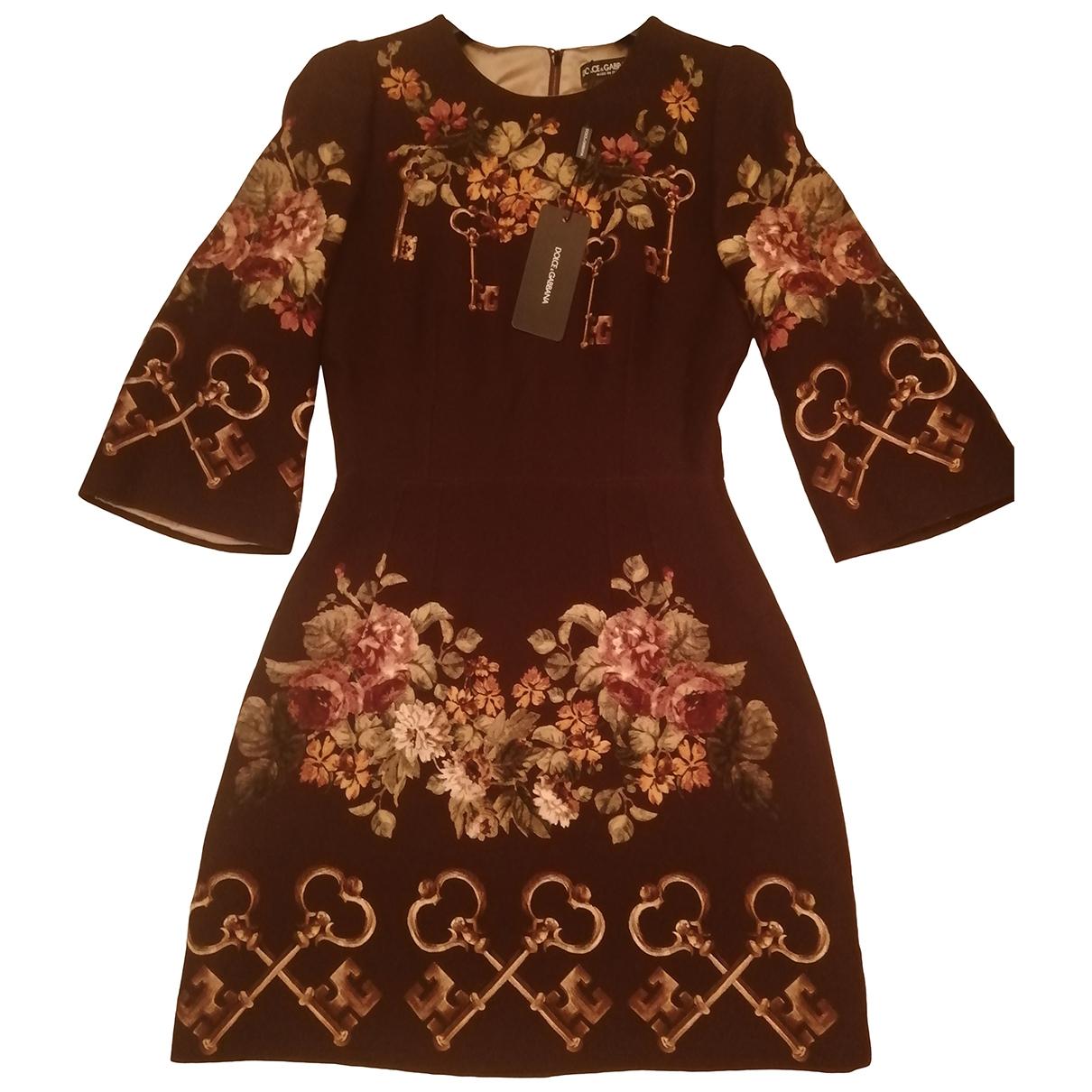 Dolce & Gabbana \N Multicolour Wool dress for Women 6 UK