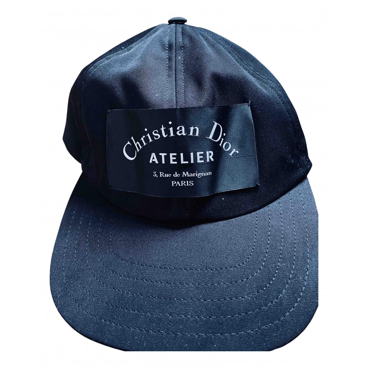 Dior Homme - Chapeau & Bonnets   pour homme en coton - noir