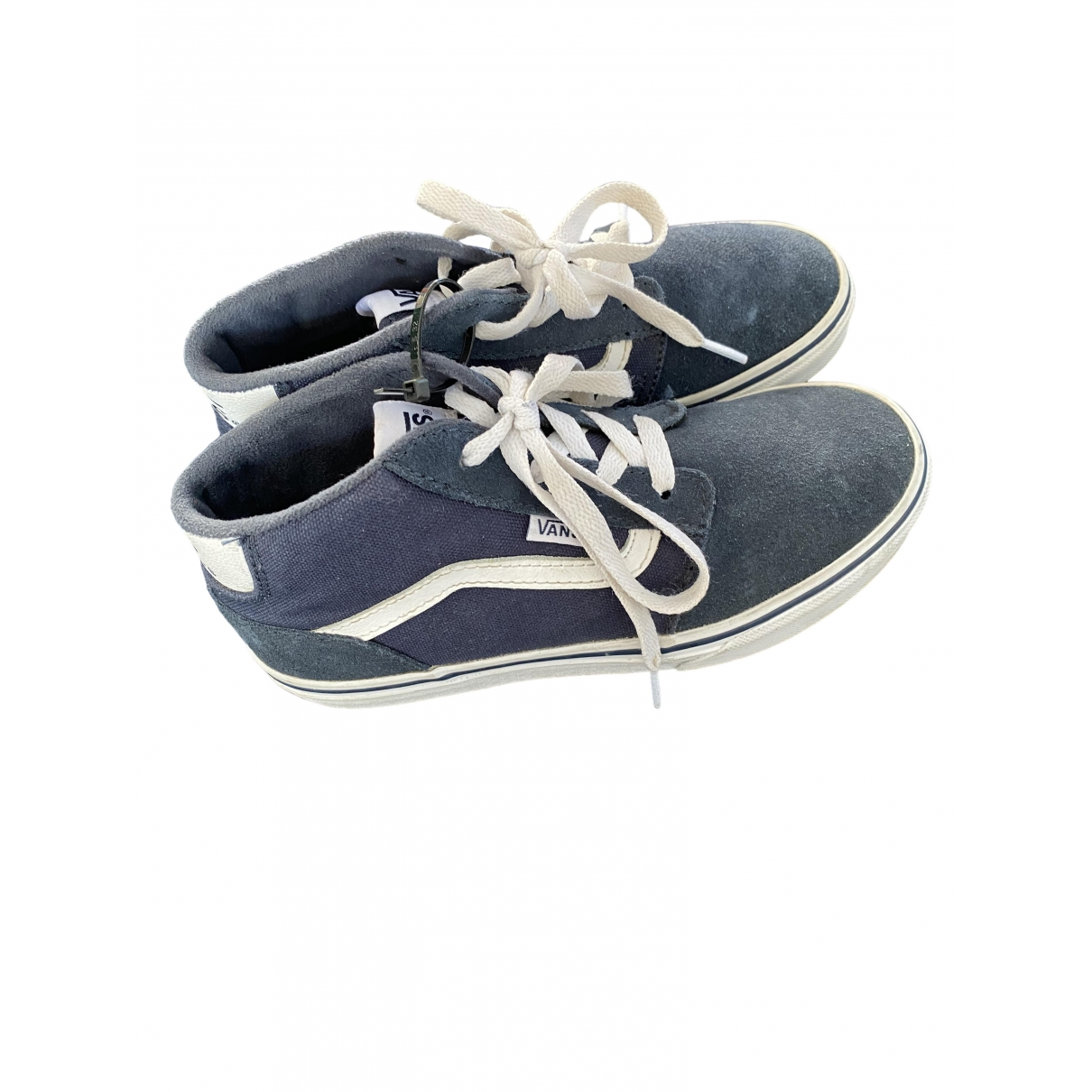 Vans \N Blue Suede Trainers for Kids 34 EU