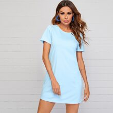 Crisscross Back Tee Dress
