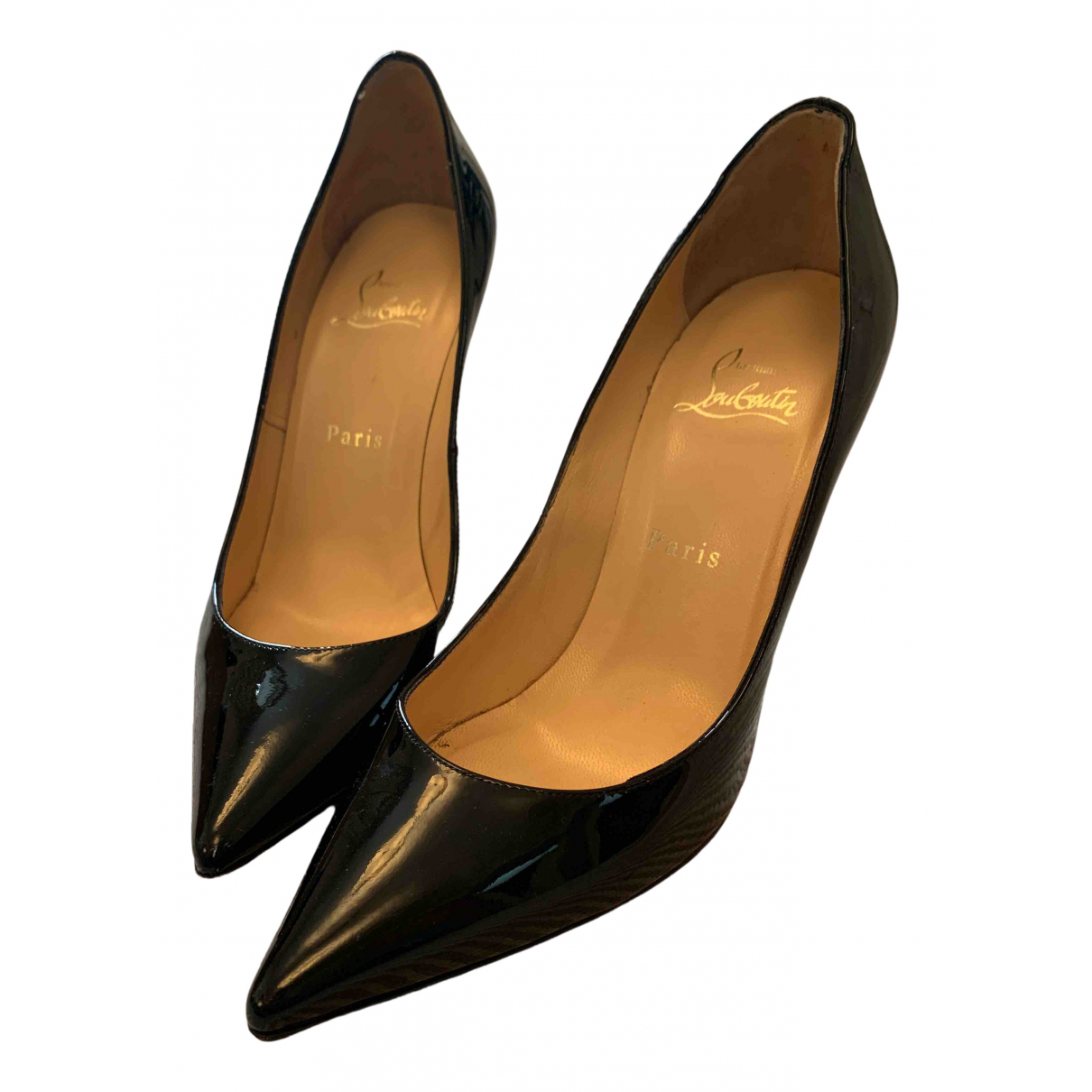 Christian Louboutin N Black Leather Heels for Women 39 EU