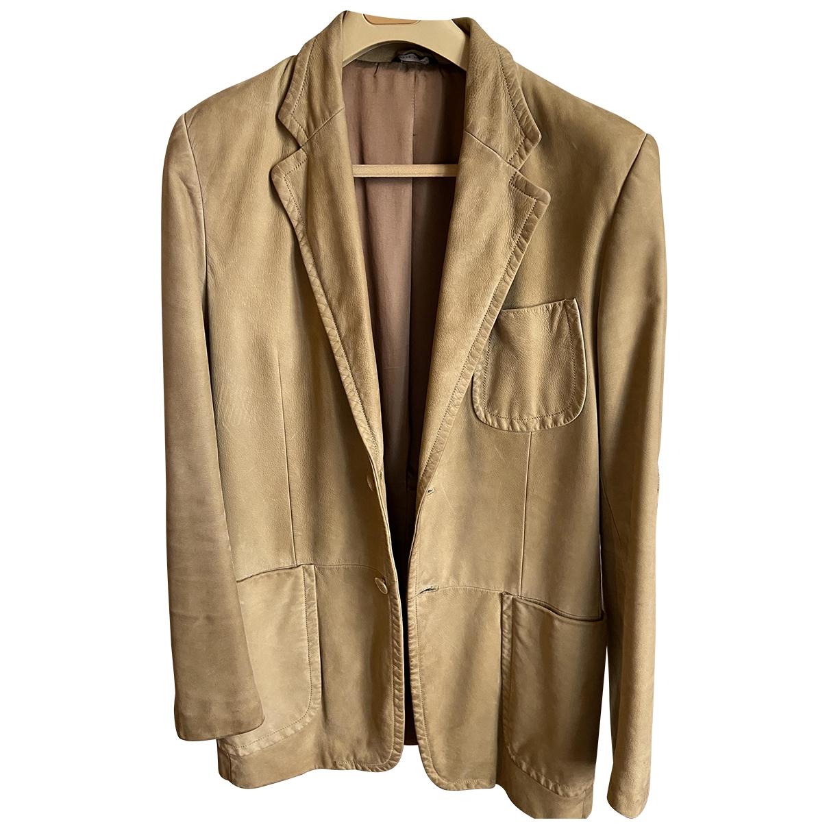 Gucci \N Beige Leather jacket  for Men 50 IT