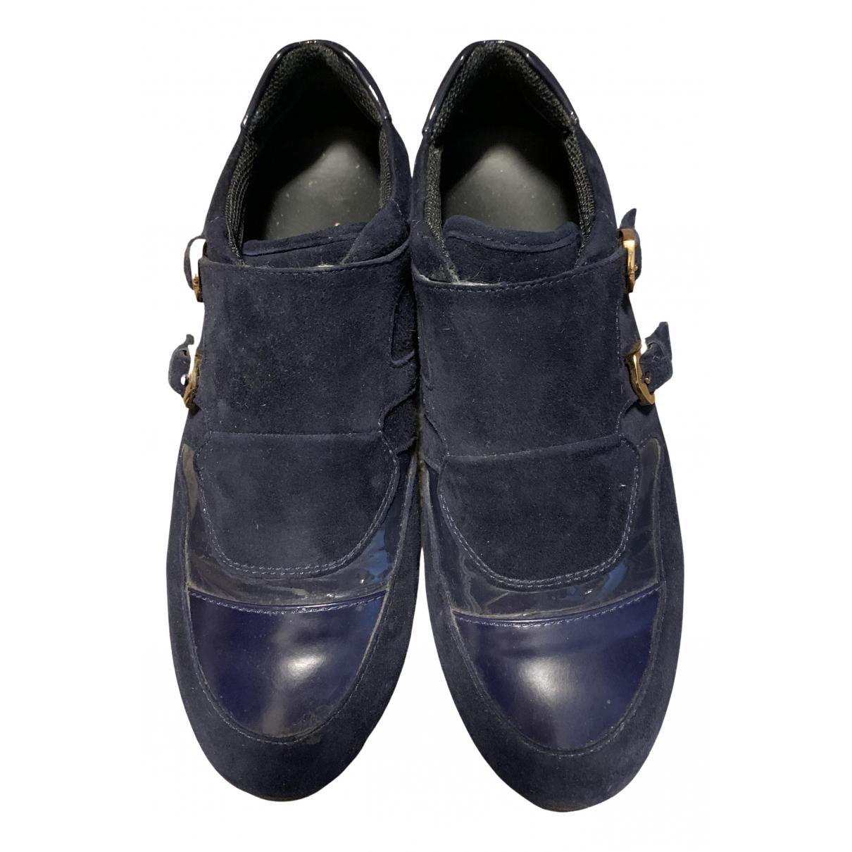 Tod's \N Sneakers in  Blau Leder