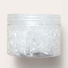 1000 piezas goma de pelo transparente