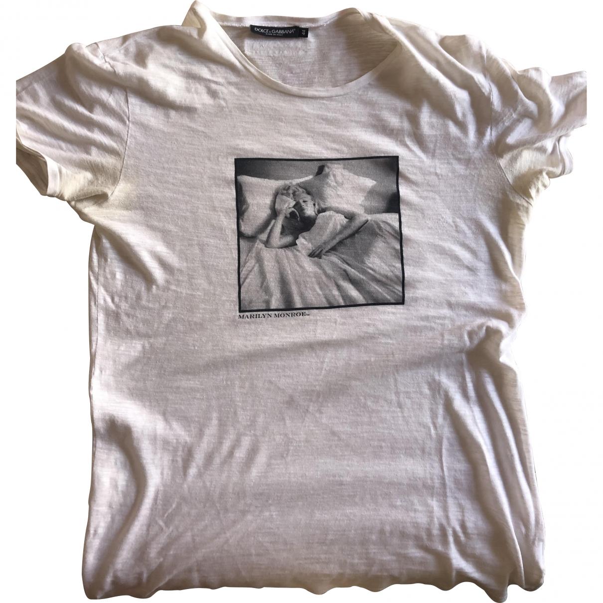 Dolce & Gabbana \N White Cotton T-shirts for Men XS International